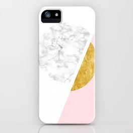 Modern Minimalist White And Gold Marble Art, Scandinavian Minimalism, Large Print Wall Art Decor iPhone Case