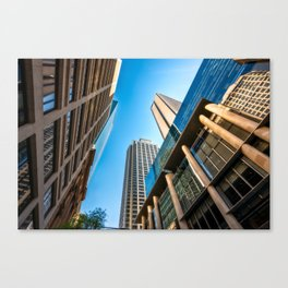 Low angle view perspective on Pitt Street in Sydney Canvas Print