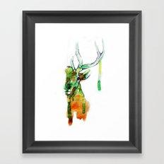 Deerface Framed Art Print