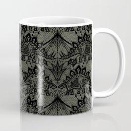 Stegosaurus Lace - Black / Grey - Coffee Mug