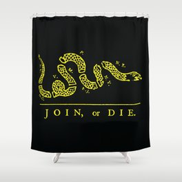 1754 Join or Die Snake Shower Curtain