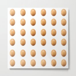 World Record Egg Seamless Pattern Metal Print