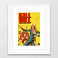 kill bill Framed Art Prints featuring KILL BILL by Ads Libitum