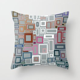 Abstract Composition 685 Throw Pillow