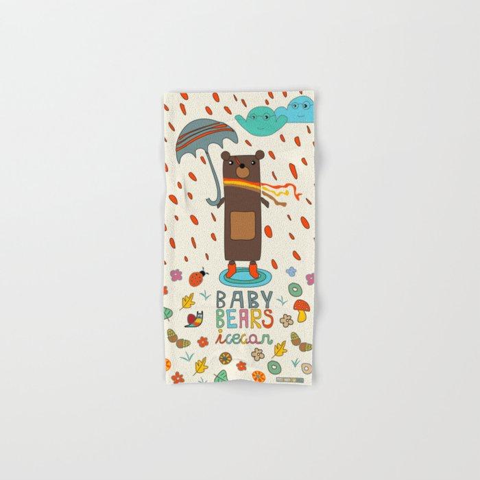 Baby Bears Icecar Hand & Bath Towel