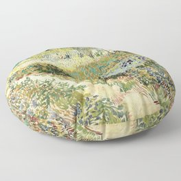 Vincent Van Gogh : Garden at Arles Floor Pillow