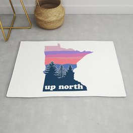 Up North Minnesota Blush Sunset Rug