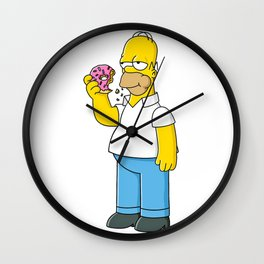 hungry dounat simpson Wall Clock