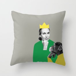 Jane Goodall Throw Pillow