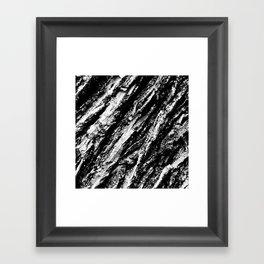 Black and White Bark Close Up Framed Art Print
