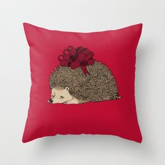 Happy Hedgehog Day Throw Pillow