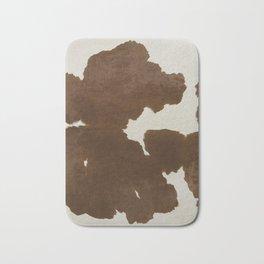 Dark Brown & White Cow Hide Bath Mat