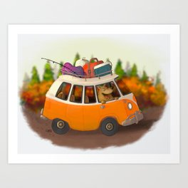 Let's go camping! Art Print