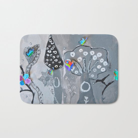 Paper Painting Forest #society6 Bath Mat