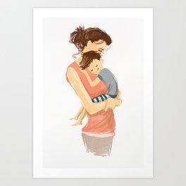 Mom's love Art Print