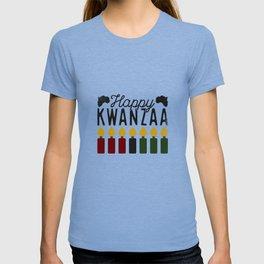 Happy Kwanzaa Seven Candles Nguzo Saba Traditions T-shirt