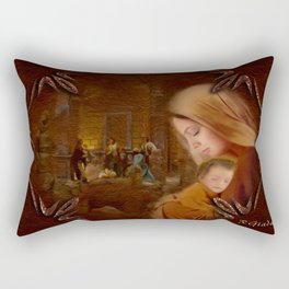 Christmas Blessings - Christmas art by Giada Rossi Rectangular Pillow