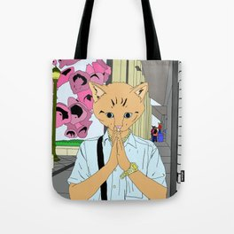Kitten Monk Tote Bag