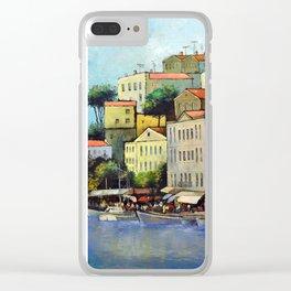 Mediterranean town Clear iPhone Case