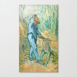 Van Gogh, The Woodcutter, 1889 Canvas Print