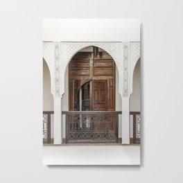 Vintage Wooden Door Marrakech Morocco Photo Art Print   Digital Travel Photography Metal Print