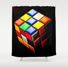 Rubiks Cube Shower Curtain