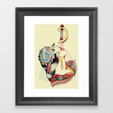 Sword Magic Girl Framed Art Print