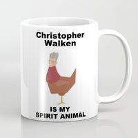 christopher walken Mugs featuring Christopher Walken is my Spirit Animal by Mr. Child