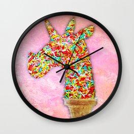 Sprinkled Unicorn Ice Cream Wall Clock