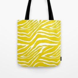 Zebra Golden Yellow Tote Bag