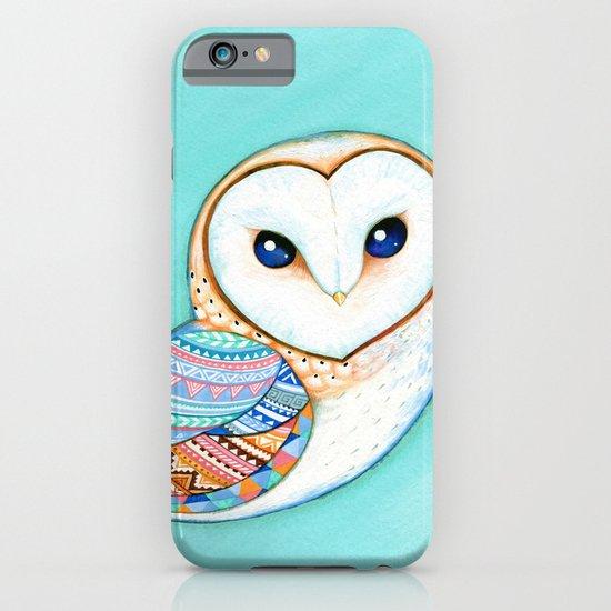 Tribal Pattern Barn Owl iPhone & iPod Case
