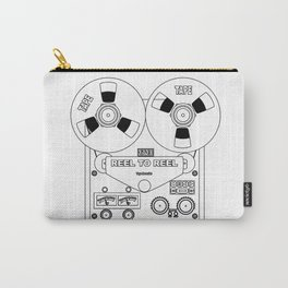 Reel To Reel Line Drawing Carry-All Pouch