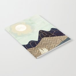 Indigo Forest with Gold Notebook