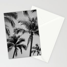 Black Palm Trees Stationery Cards