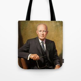 President Dwight Eisenhower Painting Tote Bag
