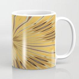 Yellow and Ochre Flower Pattern Abstract 2 Coffee Mug