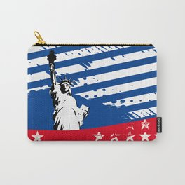 USA Flag - American Flag - Statue of Liberty - 4th July Carry-All Pouch