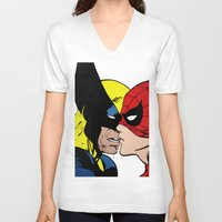 heroes V-neck T-shirts featuring Heroes by Alex Cherry