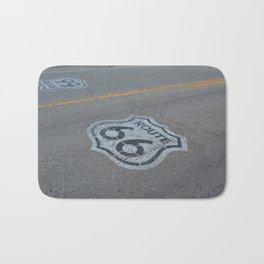 The mythical Route 66 sign in Texas, USA. Bath Mat