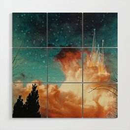 Seeing a City in the Clouds Wood Wall Art
