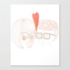 Nerd Kiss Canvas Print