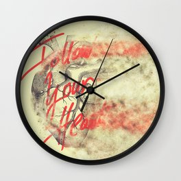 FOLLOW YOUR HEART SANDSTORM Wall Clock
