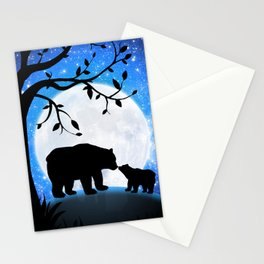 Moon and bears Stationery Cards