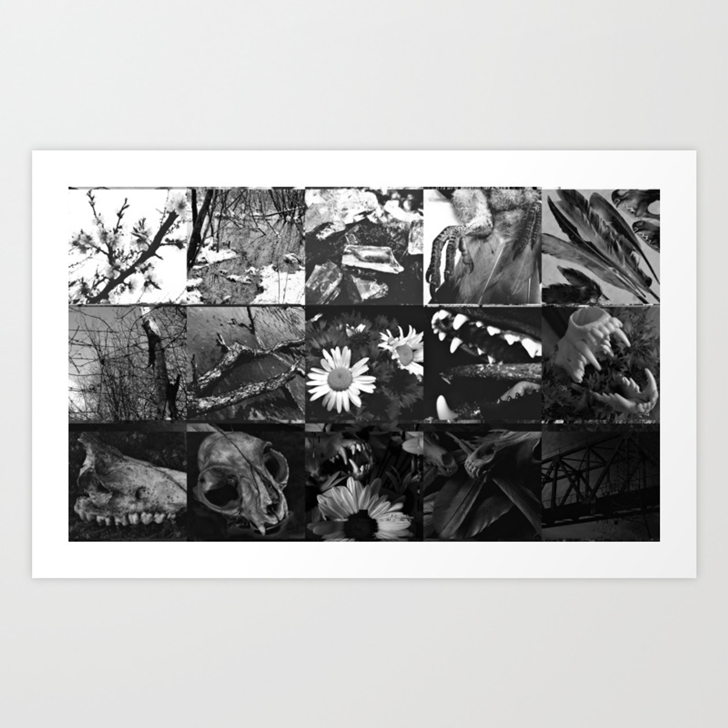 Greyscale Collage Art Print By Aorax Society6