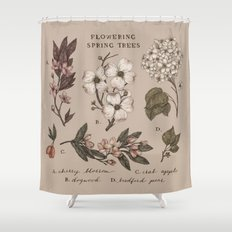 Flowering Spring Trees Shower Curtain