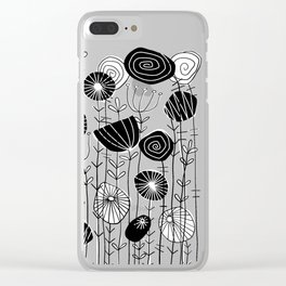 Wildflowers Grow Free Clear iPhone Case
