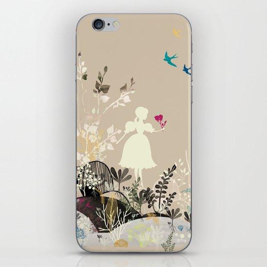 girl in the garden  iPhone & iPod Skin