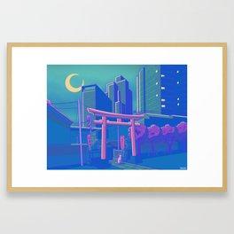 Neon Moon Framed Art Print
