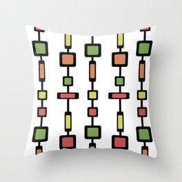 Mid Century Squares Art Throw Pillow
