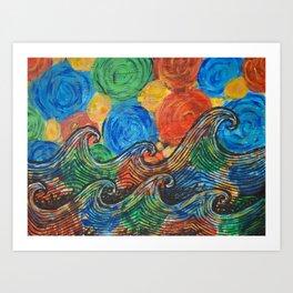 Waves in my Dreams Art Print